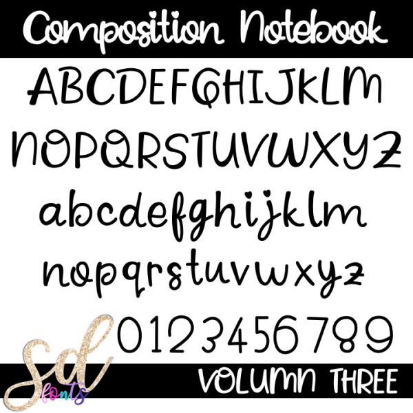 SD Fonts Composition Notebook