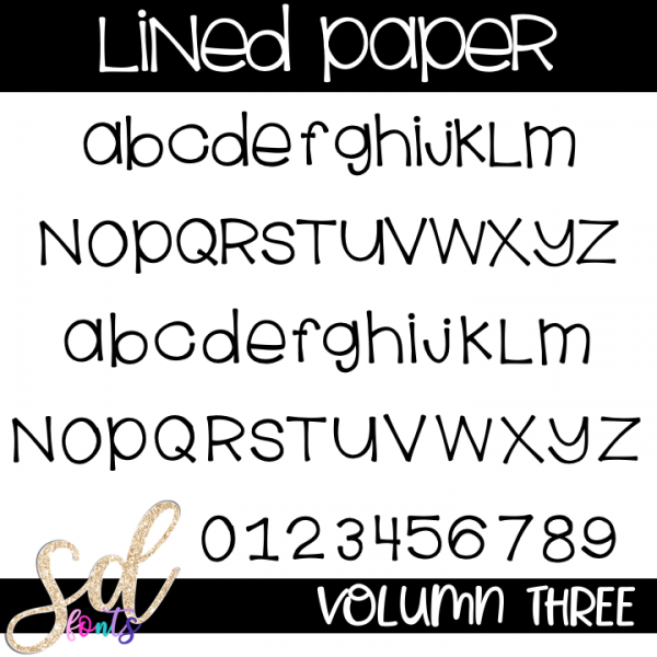 SD Fonts Lined Paper