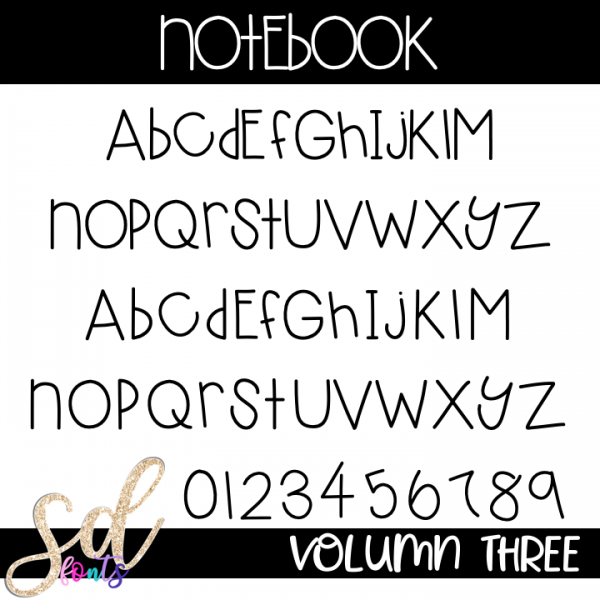 SD Fonts Notebook