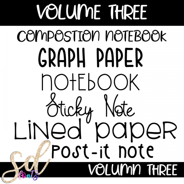 SD Fonts Volume Three Included Fonts